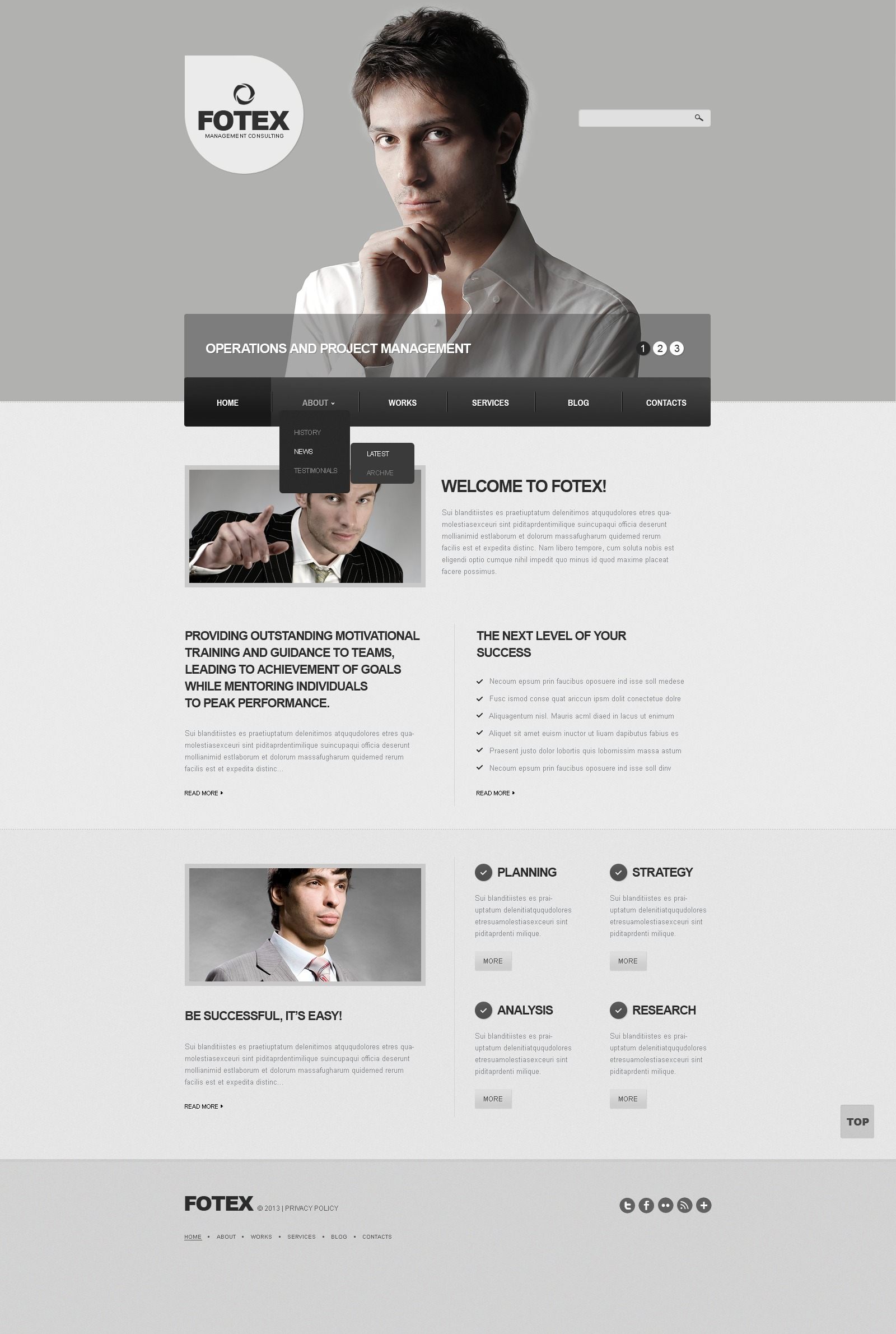Gray Management Company Drupal Template