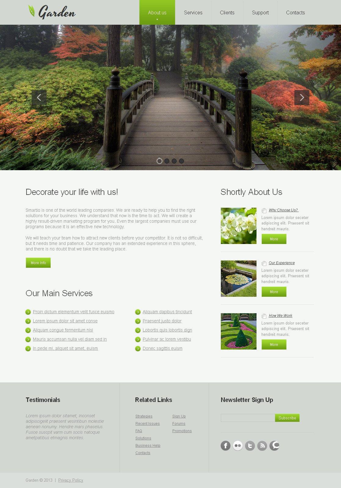 Premium Moto CMS HTML Template over Tuinontwerp №43238 - screenshot