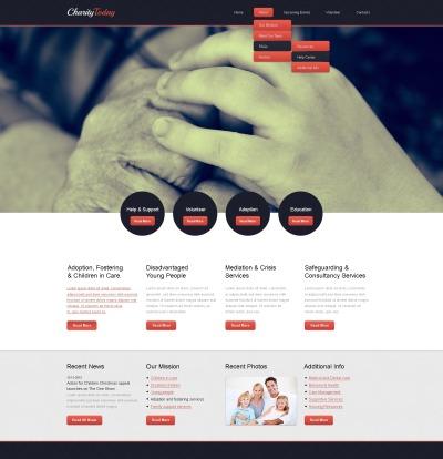 Responsive Website Vorlage für Kindercharity