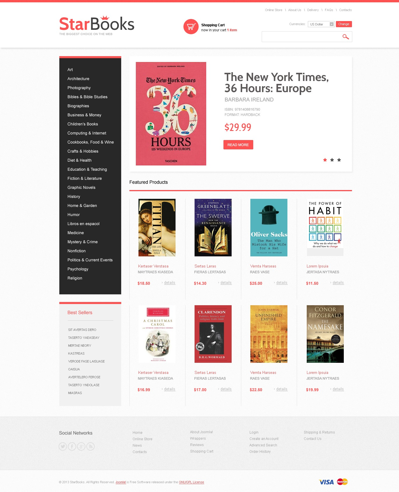 books virtuemart templates templatemonster