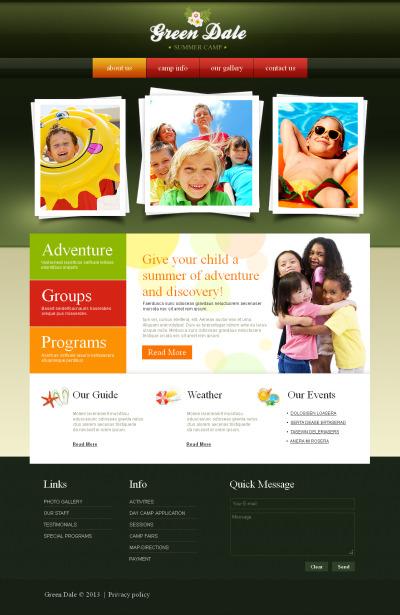 Szablon Moto CMS HTML #43236 na temat: obóz letni