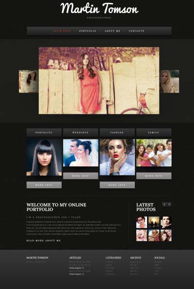 Photographer Portfolio Template Galleria Di Foto
