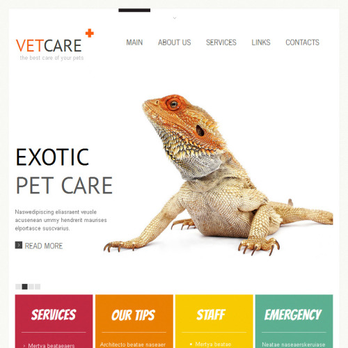 Vet Care - Facebook HTML CMS Template