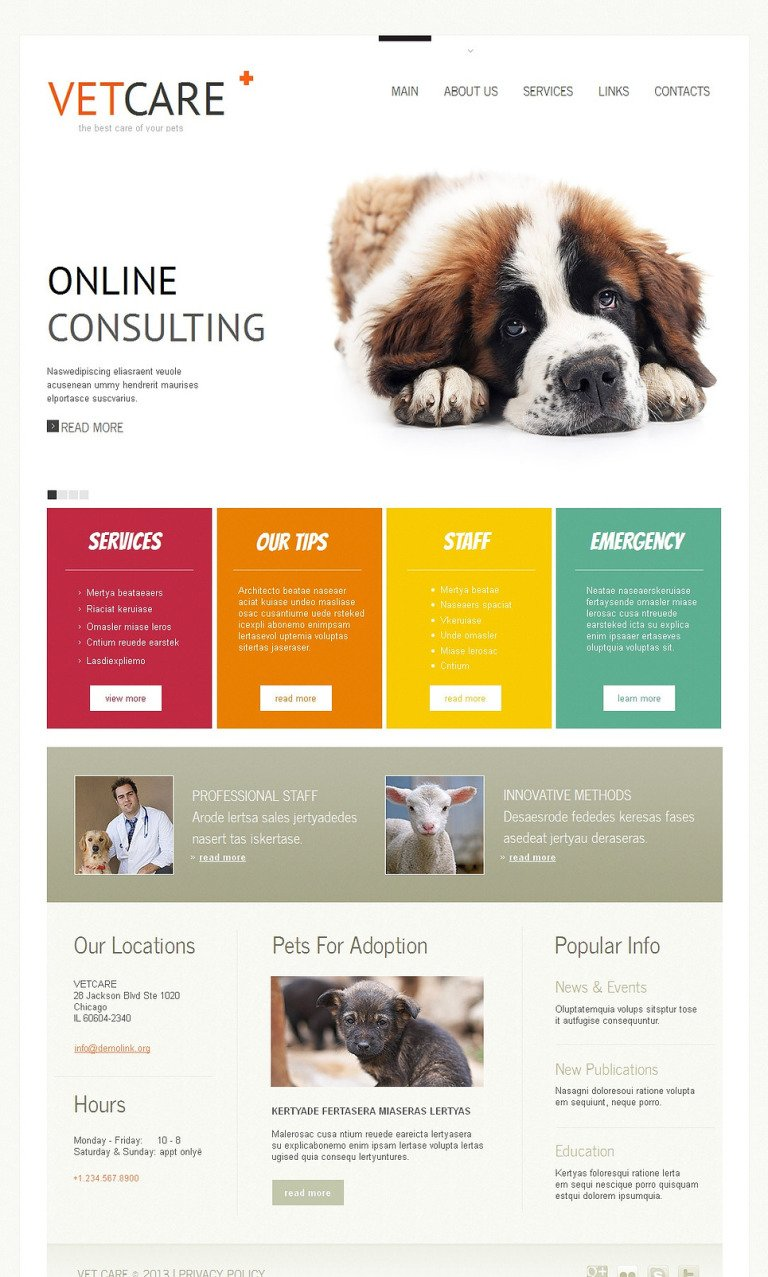 Vet Moto CMS HTML Template New Screenshots BIG