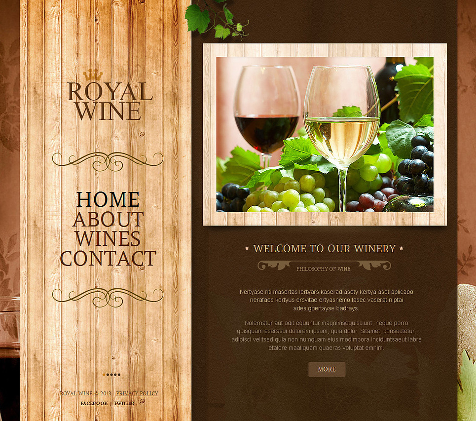Wine Moto CMS HTML Template New Screenshots BIG