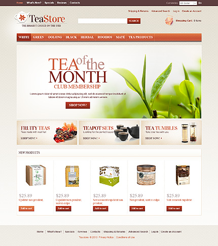 osCommerce Template 43331 Main Page Screenshot