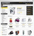 Electronics osCommerce  Template 43335