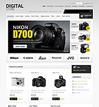 Electronics osCommerce  Template 43337
