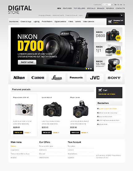 osCommerce Template 43337 Main Page Screenshot