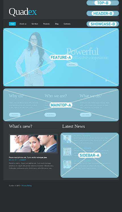 Joomla Theme/Template 43349 Main Page Screenshot