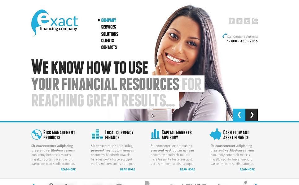 Prémium Pénzügyi tanácsadók Flash CMS sablon New Screenshots BIG