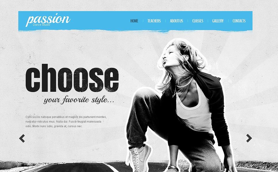 Website Vorlage für Tanzstudio  New Screenshots BIG
