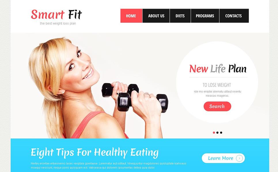 Responsive Website template over Gewichtsverlies  New Screenshots BIG