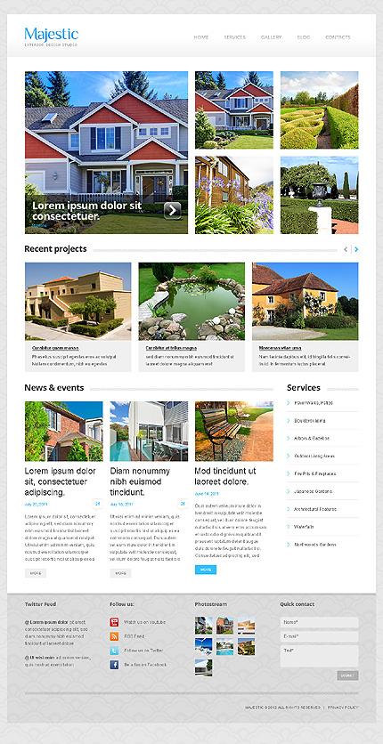 WordPress Theme/Template 43364 Main Page Screenshot
