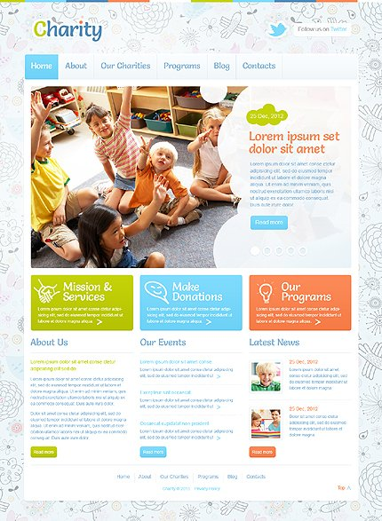 WordPress Theme/Template 43375 Main Page Screenshot