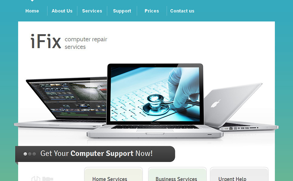 Szablon Moto CMS HTML #43383 na temat: naprawa komputerów New Screenshots BIG
