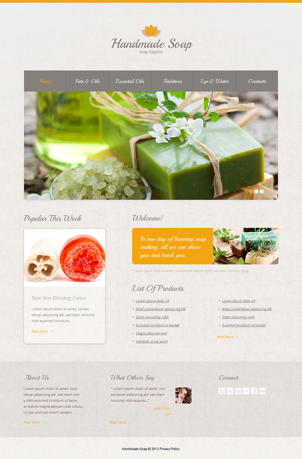 Crafts Website Template with jQuery Slider - image