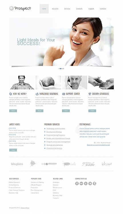 ADOBE Photoshop Template 43388 Home Page Screenshot