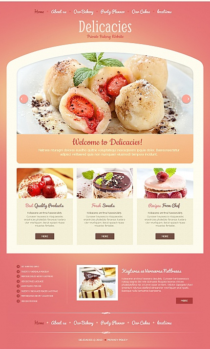 ADOBE Photoshop Template 43391 Home Page Screenshot