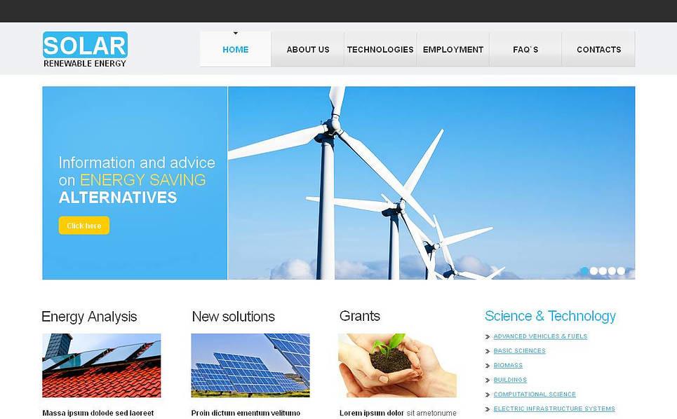 Luxusní Moto CMS HTML šablona na téma Sluneční energie New Screenshots BIG