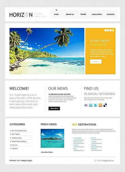 ADOBE Photoshop Template 43396 Home Page Screenshot