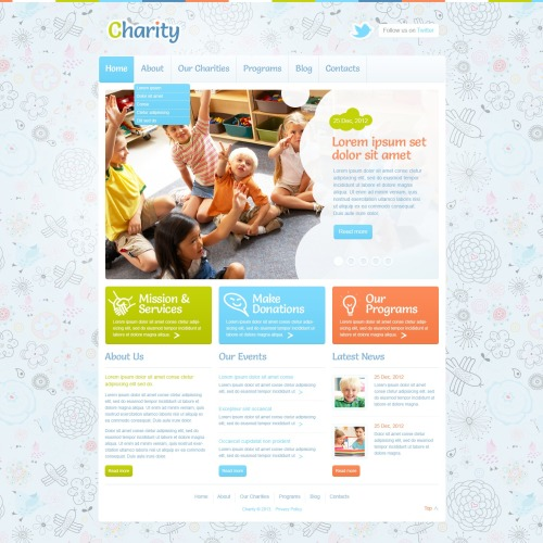 Charity - WordPress Template based on Bootstrap