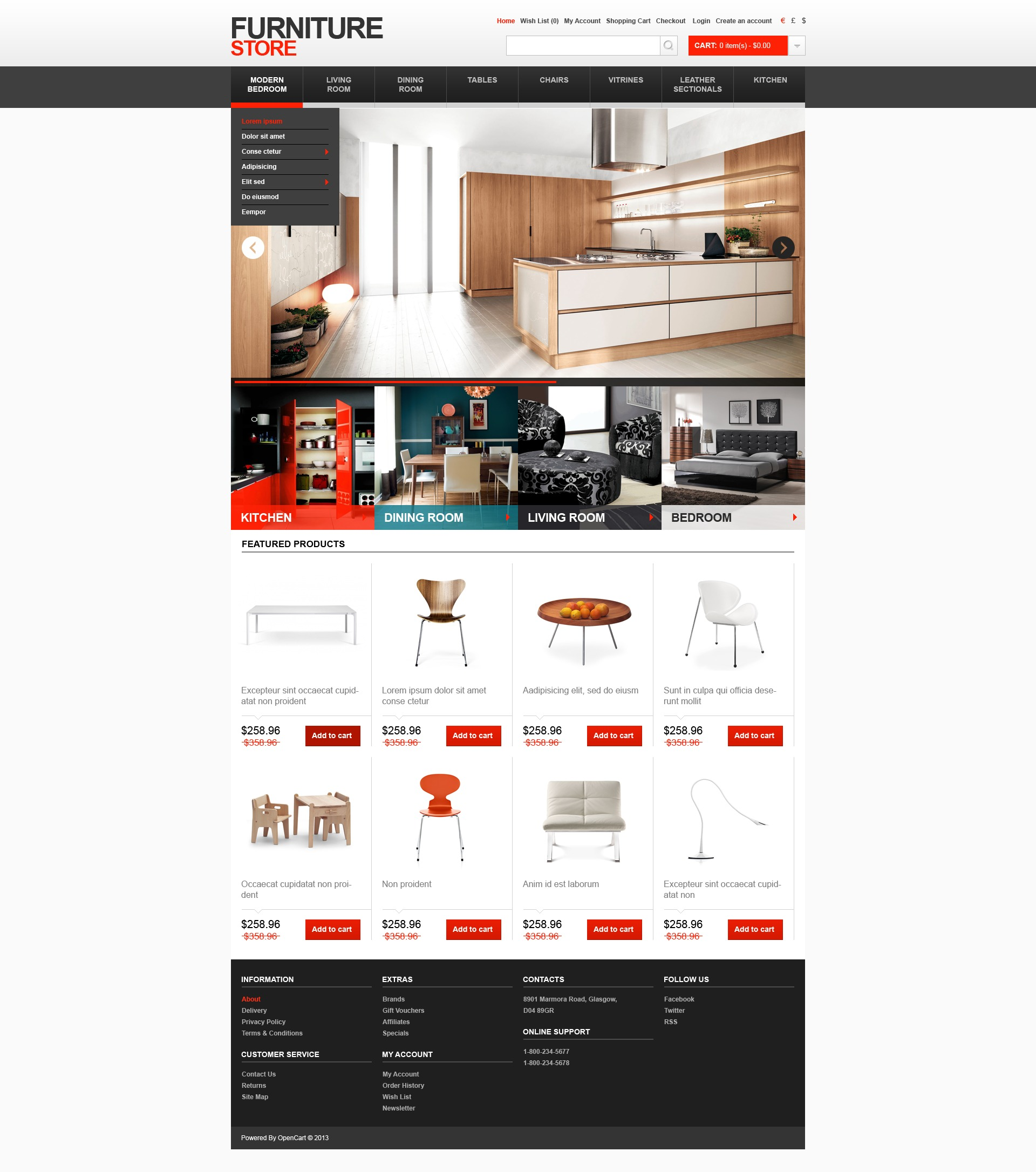 Opencart Bookstore Template Sports Store Opencart Template 38182