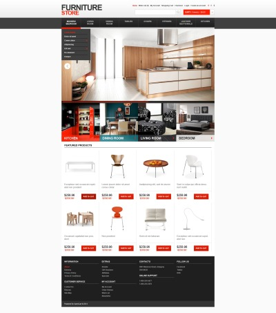Furniture Store OpenCart Template