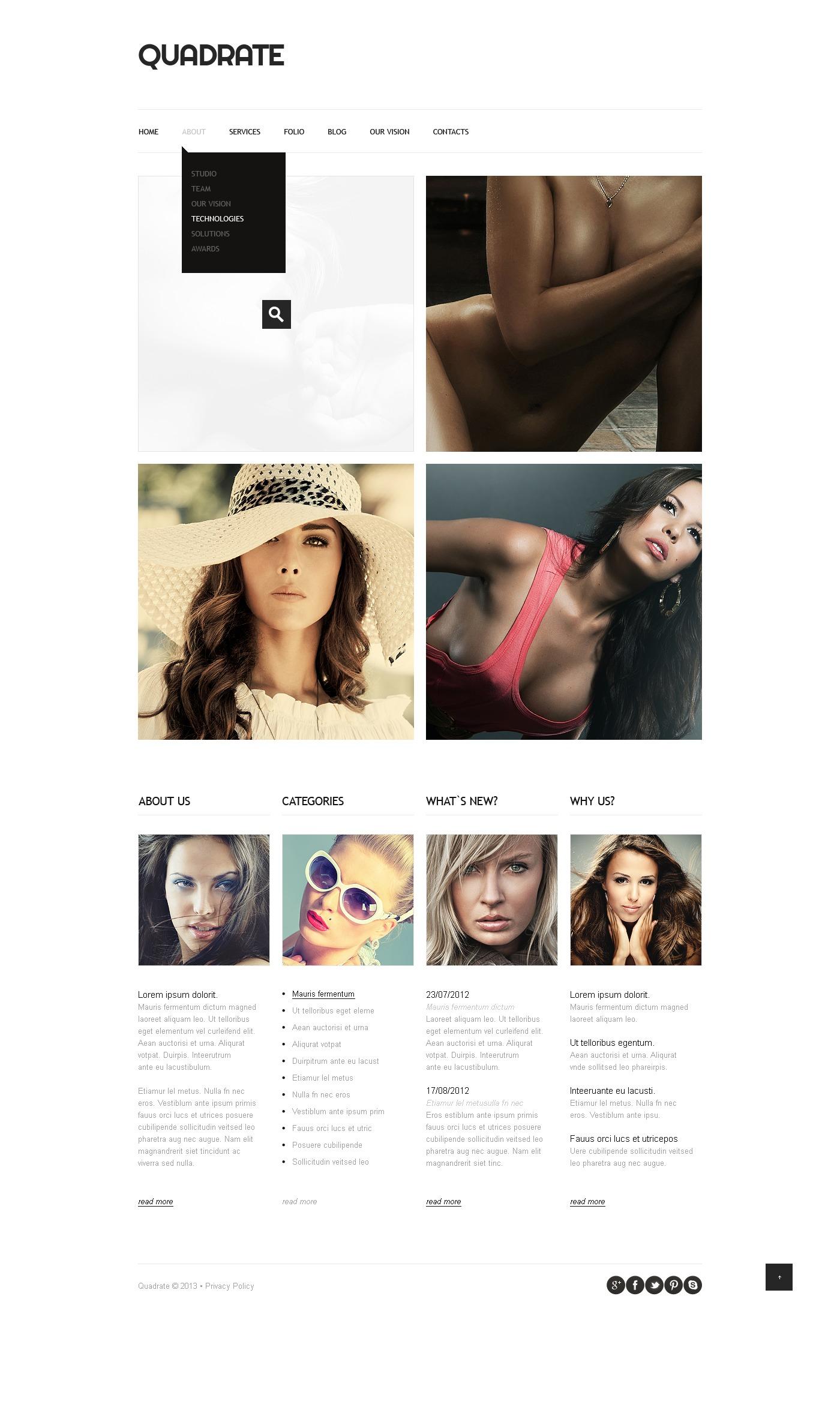 minimalist cv portfolio joomla template  43346