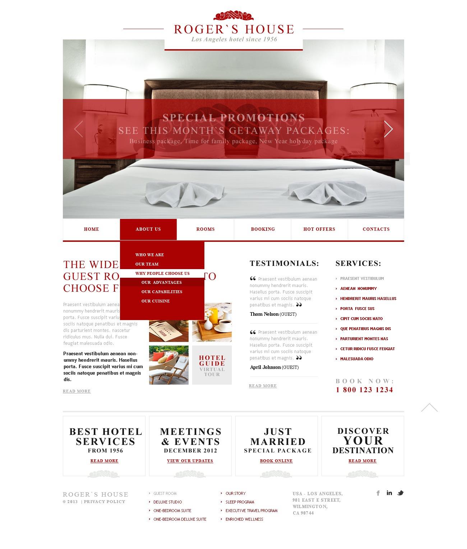Mod le web adaptatif 43378 pour site d 39 h tel for Site web pour hotel