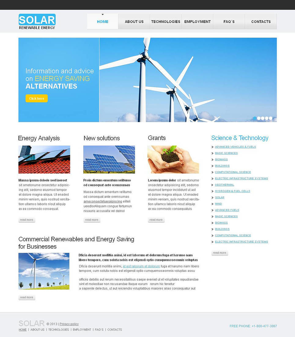 Solar Energy Moto CMS HTML Template New Screenshots BIG