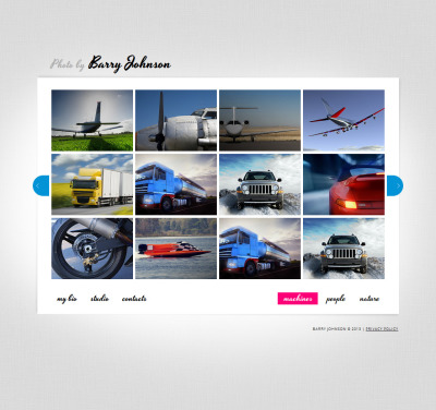 Szablon Moto CMS HTML #43382 na temat: portfolio fotograficzne