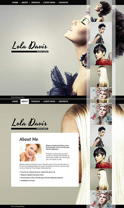 ADOBE Photoshop Template 43401 Home Page Screenshot