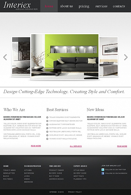ADOBE Photoshop Template 43409 Home Page Screenshot