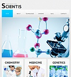 Science Facebook HTML CMS  Template 43411