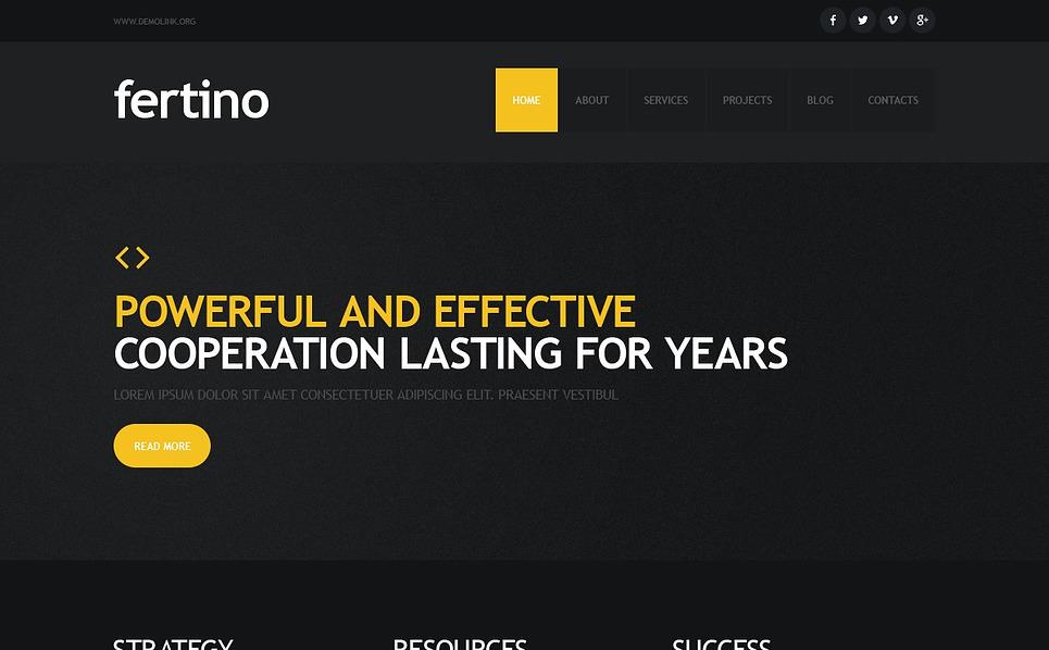 Responsive Website Vorlage für Beratung  New Screenshots BIG