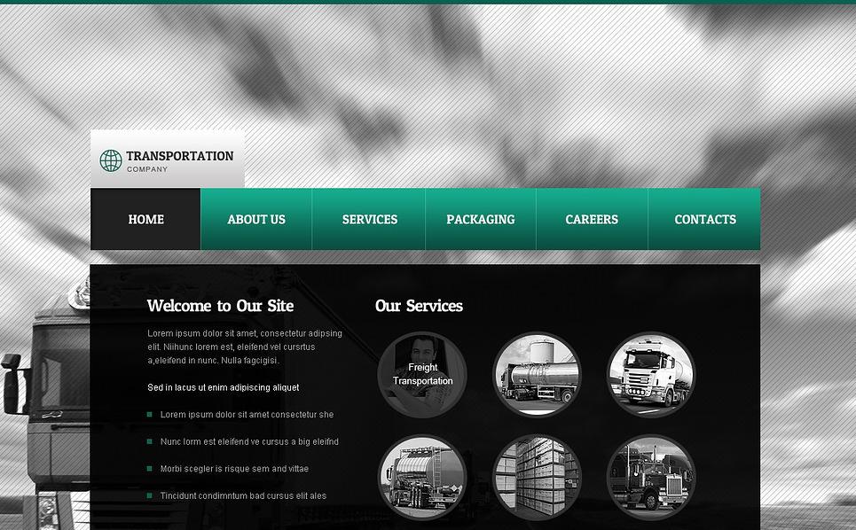 Fuvarozás Weboldal sablon New Screenshots BIG