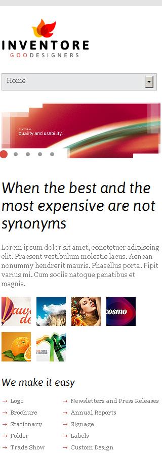 Joomla Theme/Template 43460 Main Page Screenshot