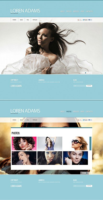 ADOBE Photoshop Template 43462 Home Page Screenshot