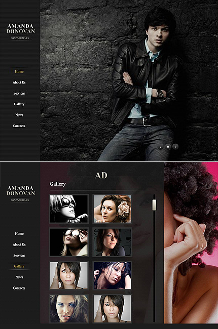 ADOBE Photoshop Template 43463 Home Page Screenshot