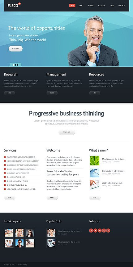 Joomla Theme/Template 43467 Main Page Screenshot