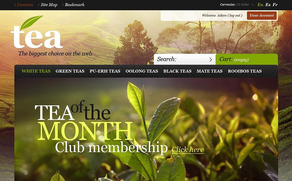 Tema PrestaShop  para Sites de Loja de Chá №43484 New Screenshots BIG