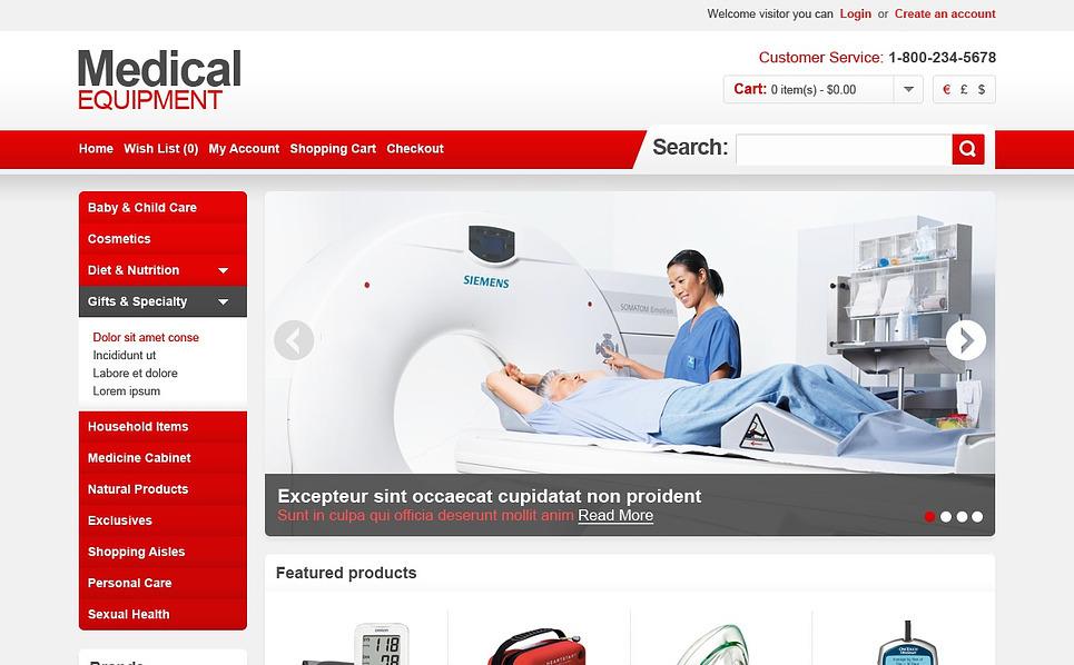 OpenCart Vorlage für Medizinische Geräte  New Screenshots BIG