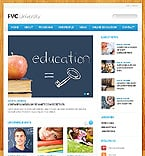 Education Website  Template 43490