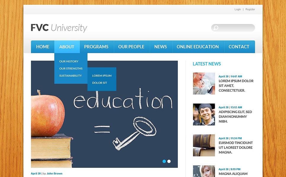 Responsywny szablon strony www #43490 na temat: uniwersytet New Screenshots BIG