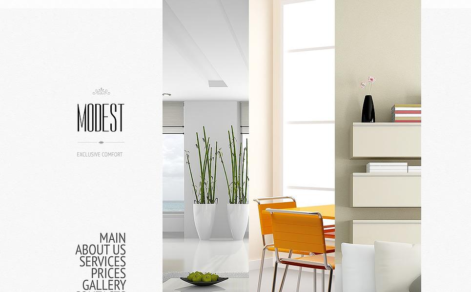 Bootstrap Website template over Interieur-design  New Screenshots BIG