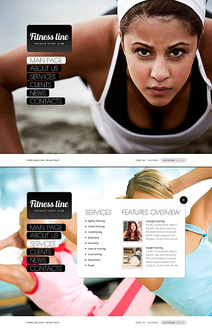 ADOBE Photoshop Template 43498 Home Page Screenshot