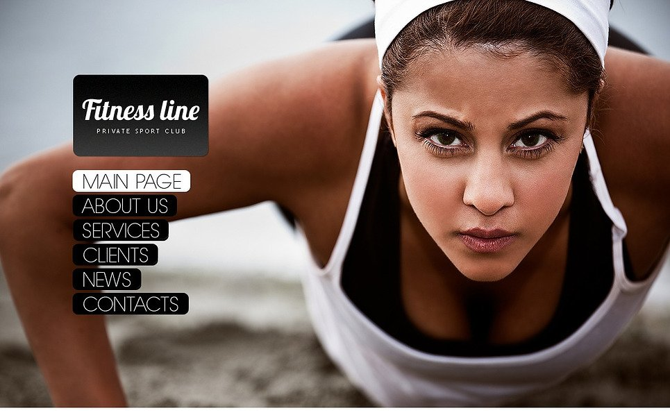 Modèle Flash CMS  pour site de club de fitness New Screenshots BIG