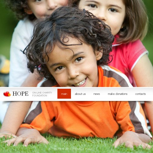 Hope - Facebook HTML CMS Template