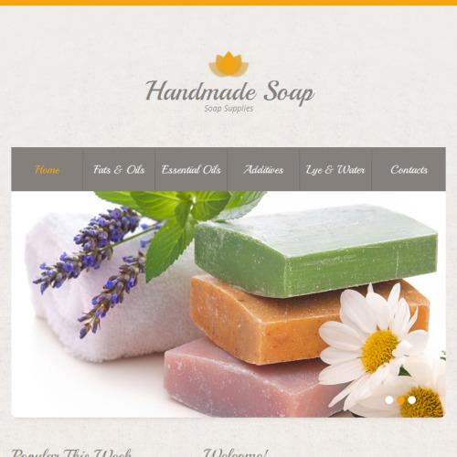 Handmade Soap - Facebook HTML CMS Template